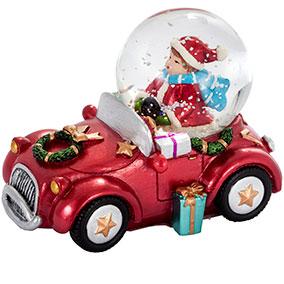 Lumisadepallo, autoileva tonttupoika