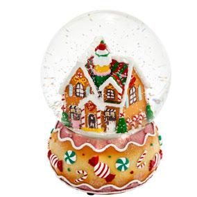 Lumisadepallo soittorasia piparkakkutalo