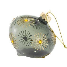 Joulupallo vihreä/kulta