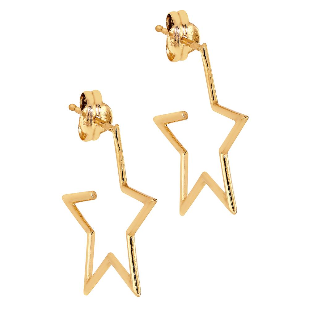 Kultaiset korvakorut, tähti