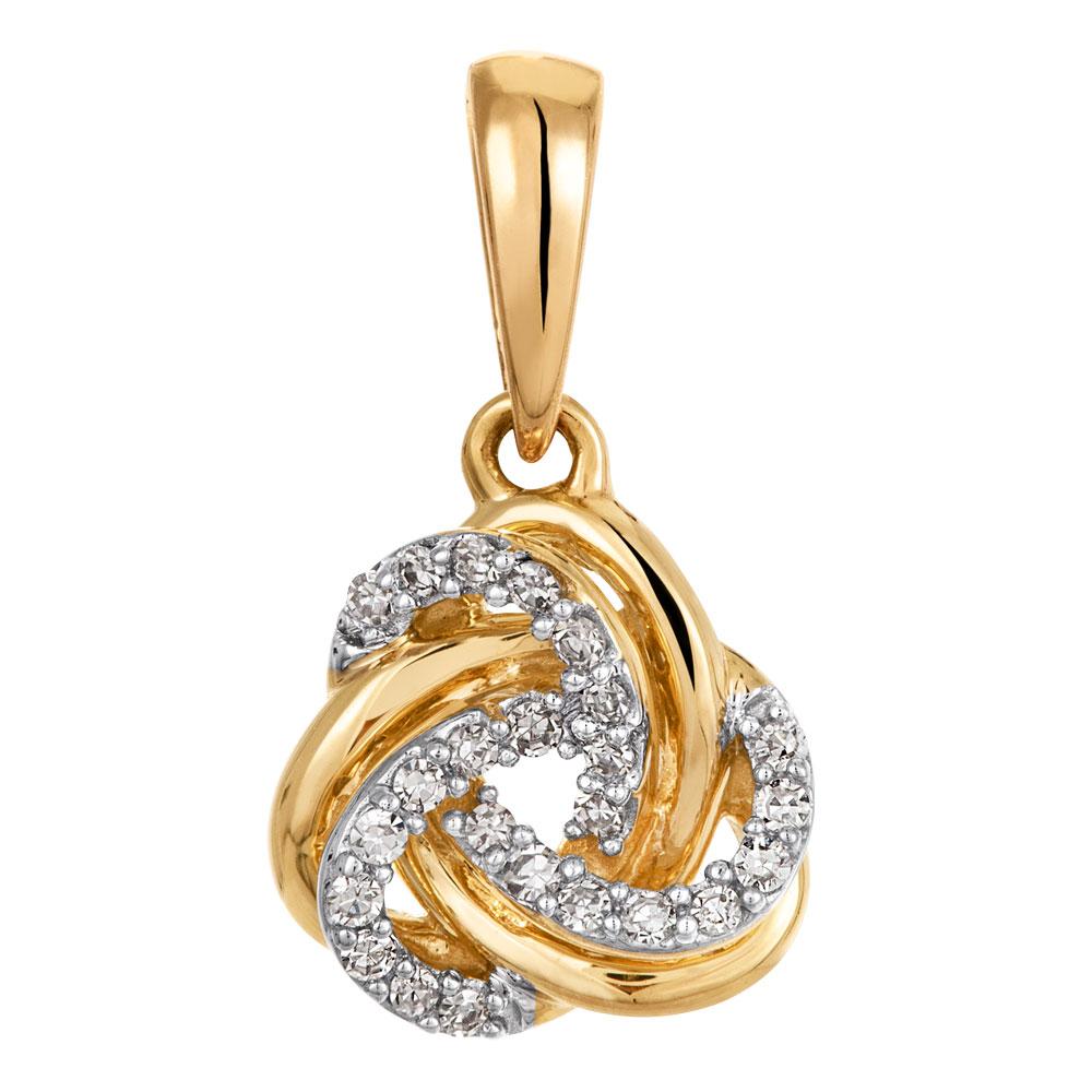 Kultainen timanttiriipus 0,05ct, solmu