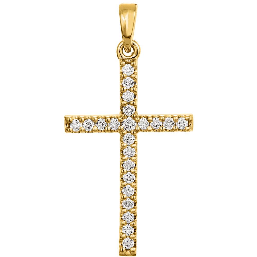 Timanttiriipus 0,13ct, kultainen risti