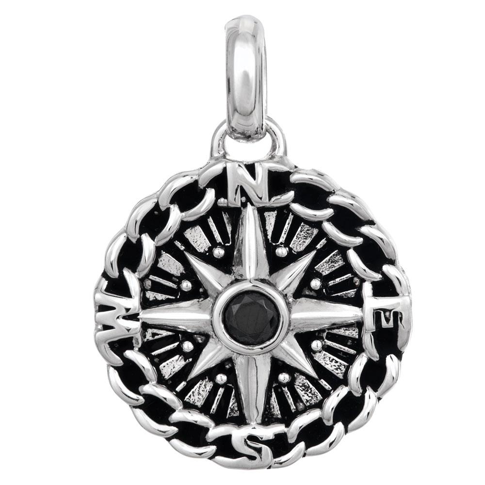 Hopeinen riipus, kompassi