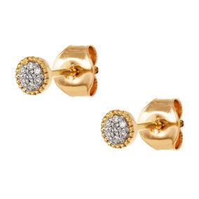 Kultaiset timanttikorvakorut 0,03ct