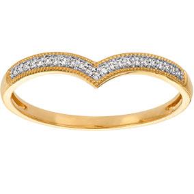 Kultainen timanttisormus 0,06ct