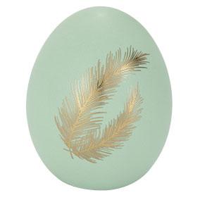 Pääsiäiskoriste, muna mintunvihreä sulat, 8,4 cm
