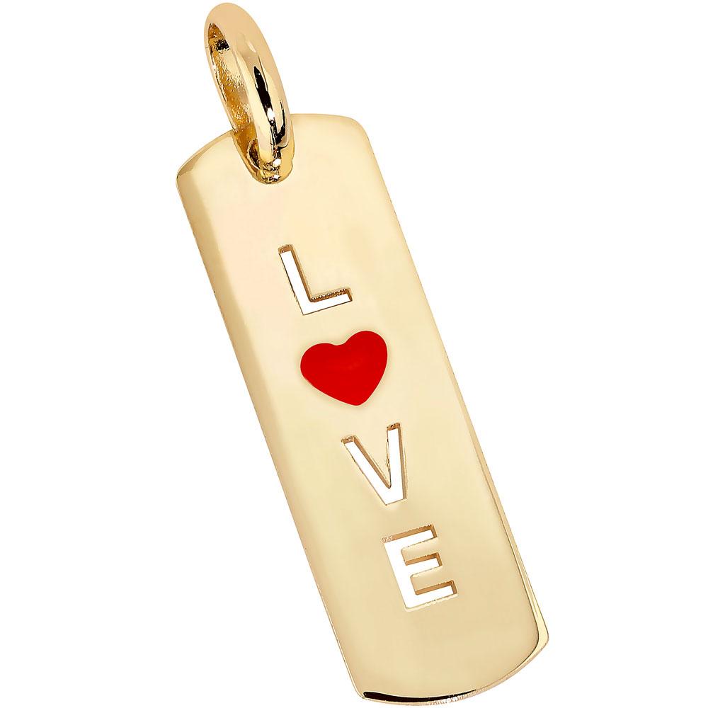 Kultainen laattariipus, love, punainen sydän