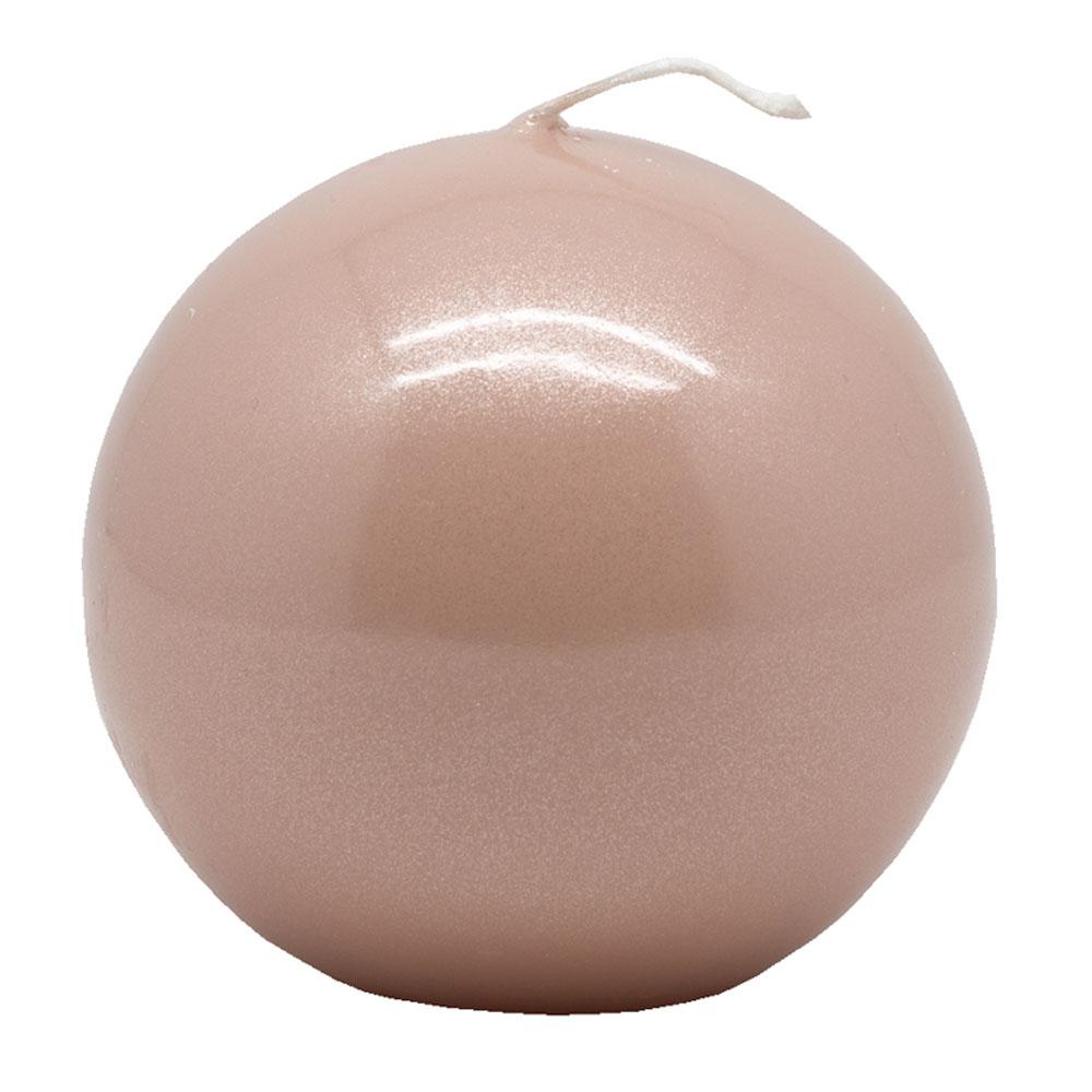 Kynttilä pallo 8cm, vaaleanpunainen
