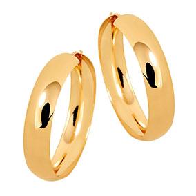 Kultaiset korvarenkaat 29 mm