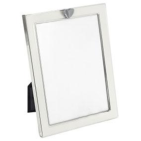 Valokuvakehys valkoinen, sydänkoriste 13x18cm