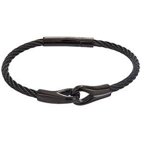 Steel4U musta teräsrannekoru 20cm